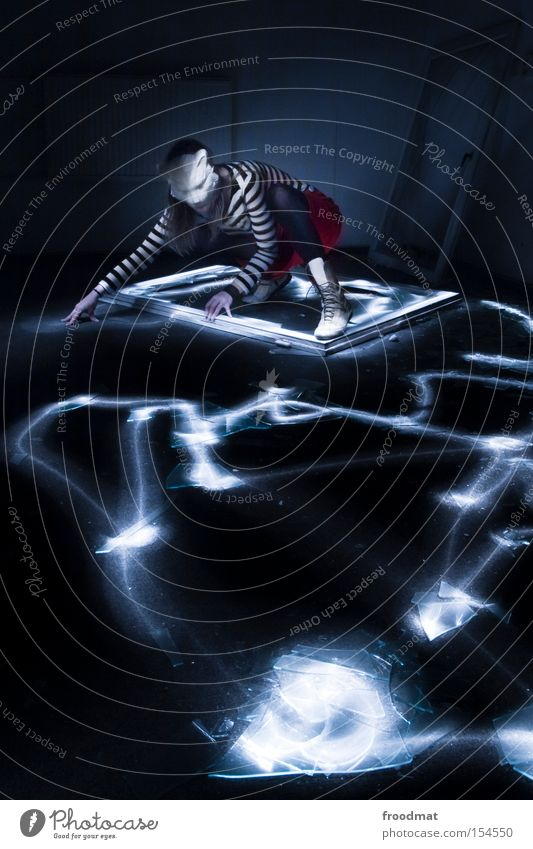 Woman Cold Window Long exposure Cat Power Force Mask Lightning Creepy Lamp Surrealism Comic Shard Dress up