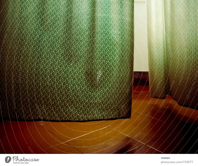 Green Window Tile Cloth Drape Curtain Blow Nature Breeze