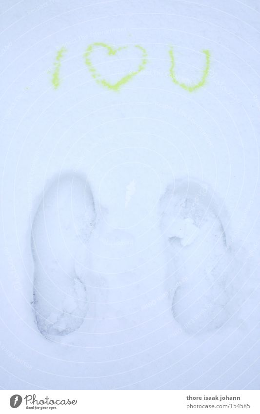 Winter Love Snow Heart Funny Footprint Joke Poetic Urine Excretion Yuck Display of affection Declaration of love