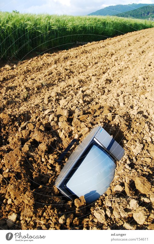 off to the worms TV set Ground Earth Field Real estate Bury Death Radio (broadcasting) buried