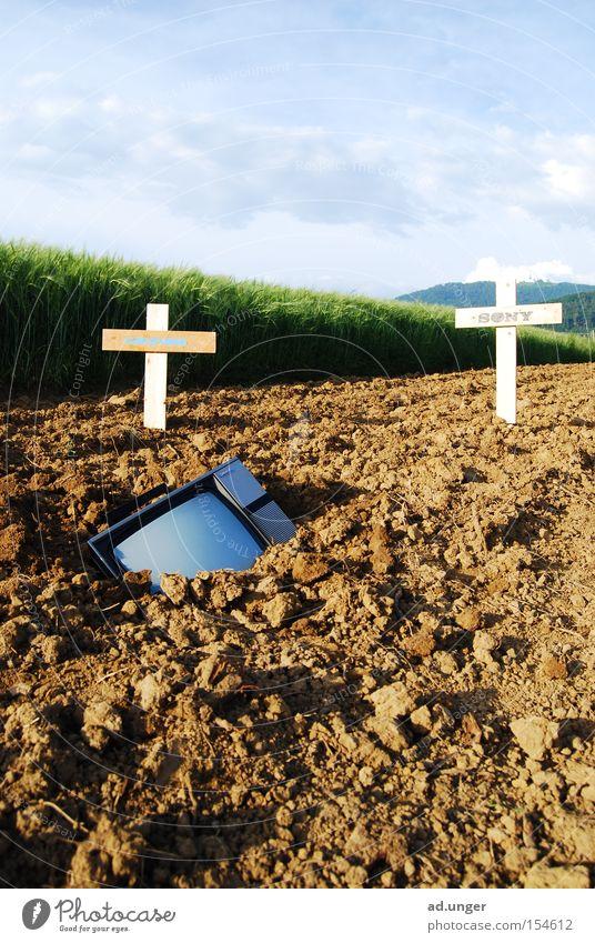Death Field Earth TV set Media Ground Radio (broadcasting) Possessions Crucifix Real estate Christianity Bury Bury