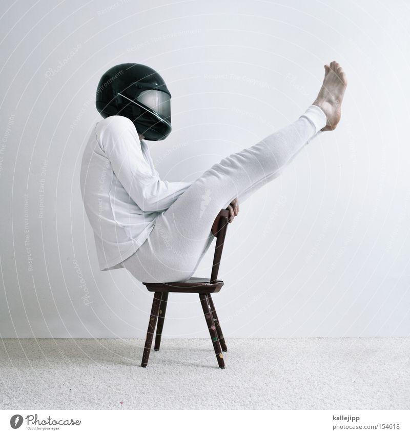 Human being White Speed Safety Chair Motorcycle Underwear Helmet Carpet Gymnastics Boast Military aircraft Gun sight Harrier High chair