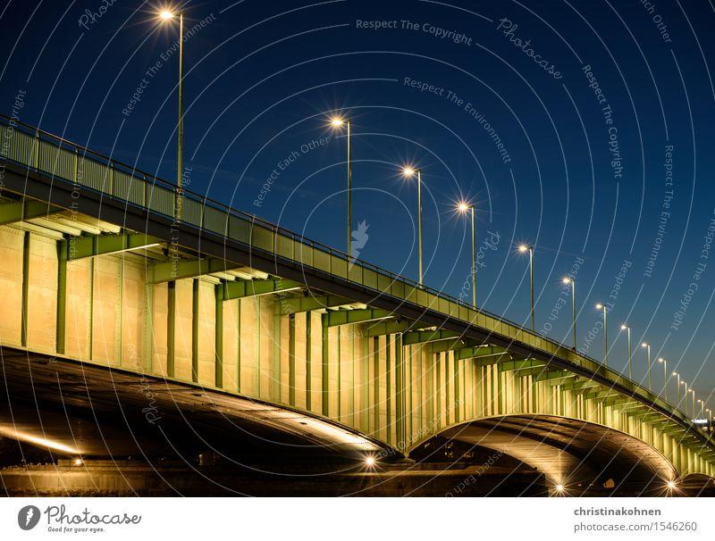 City Blue Green Far-off places Yellow Street Movement Germany Illuminate Gold Esthetic Europe Concrete Beautiful weather Bridge Hope
