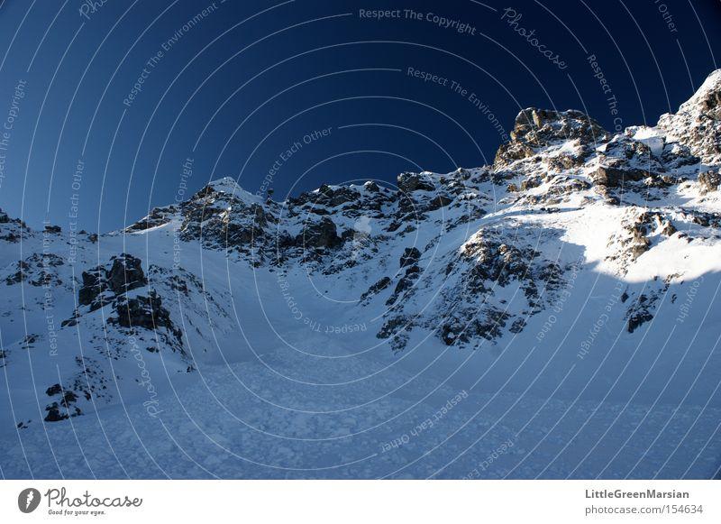 Casanna II Sky Mountain Snow Rock Winter Ice Switzerland Alps Ski run Davos Parsenn Gotschna monasteries