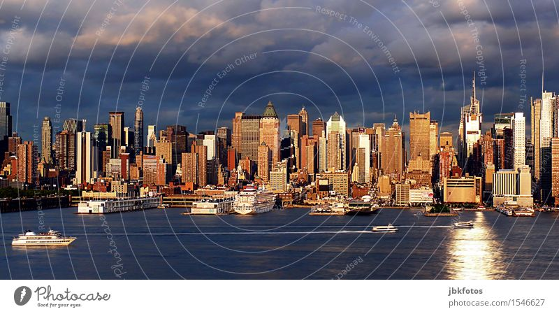 NYC New York City Manhattan Town Port City Skyline House (Residential Structure) High-rise Bank building Harbour Manmade structures Building Architecture