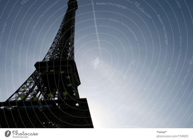 Paris Monument Landmark Blue sky Eiffel Tower