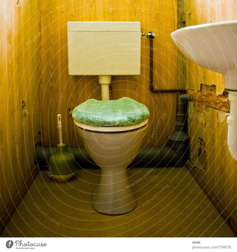 Retro Bathroom Toilet Crockery Obscure Sink Zone Rinse Toilet paper Toilet brush