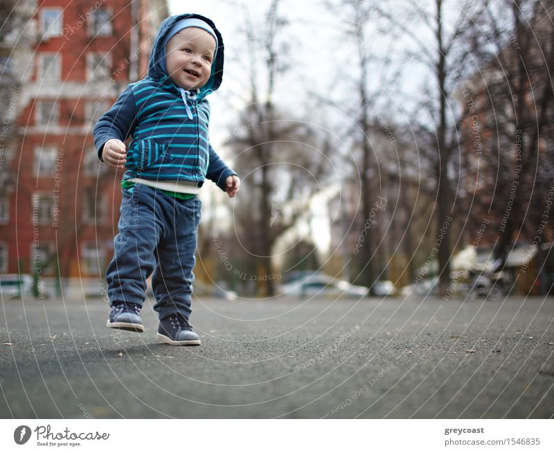 First steps Human being Child Tree Loneliness Joy Life Love Emotions Natural Boy (child) Family & Relations Happy Small Feet Masculine Dream