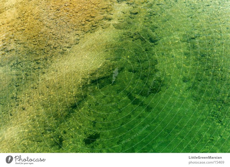 Water Green Yellow Stone Waves River Clarity Transparent Brook