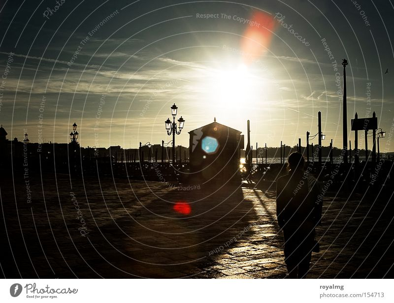 Good morning Venice Morning Dawn Contrast Sun Light Back-light Dazzle Shadow Bright Dark Historic Traffic infrastructure Italy