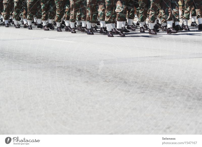 march Career Team Human being Crowd of people Street Protection March Military Colour photo Exterior shot Copy Space bottom