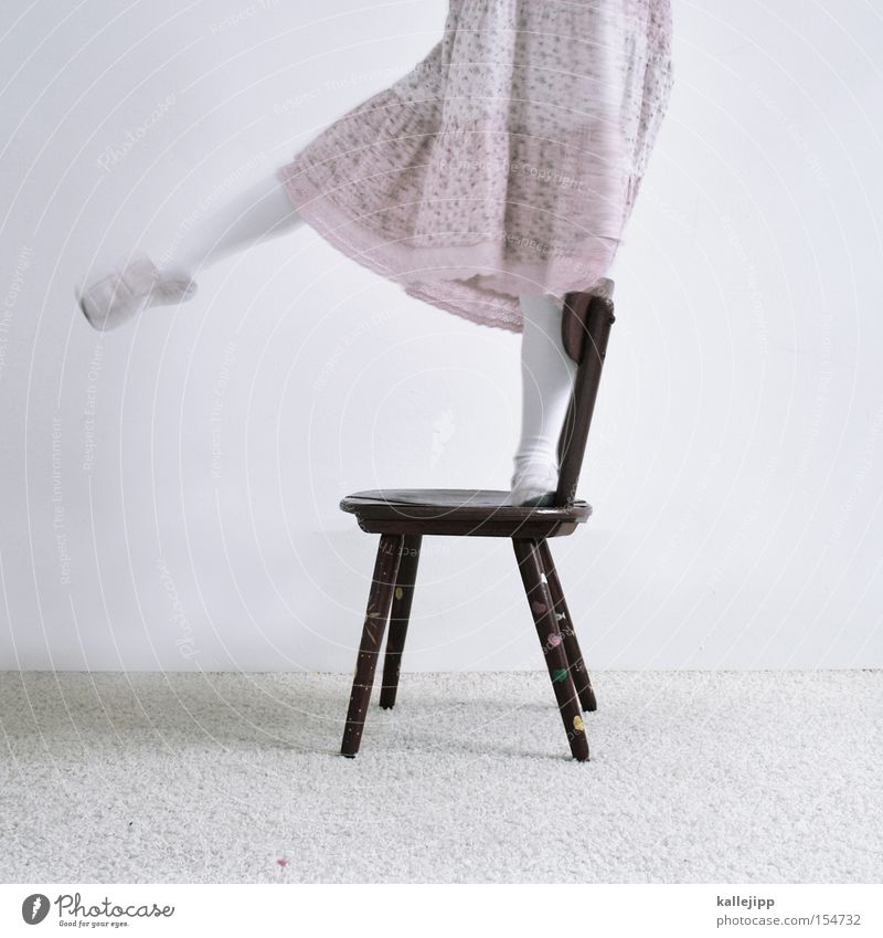 balance is everything Child Playing Ballet Receipt Chair Legs Movement Dress Pink Footwear Contentment Joy Education