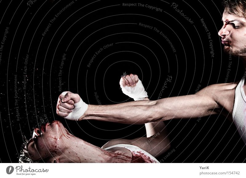 Face Power Force Blood Fight Inject Hard Blow Fist Martial arts Boxing Perspiration Hand Kickboxing Blood stain