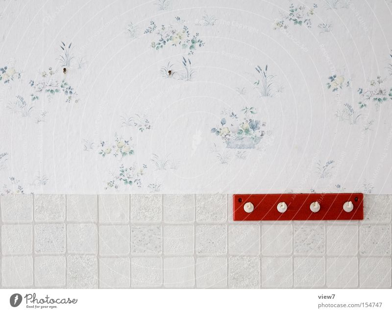 Old Red Wall (building) Wood Clothing Wallpaper Obscure Furniture Plastic Row GDR Plaster Location Checkmark Hallstand Dressing room