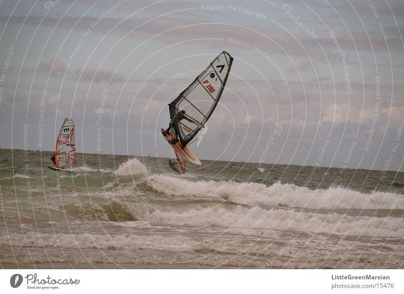 windsurfer Waves Jump Surfer Sports Wind Sail rough sea Flying