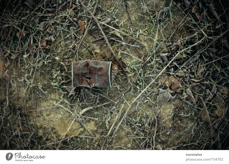 Old Landscape Industry Frost Ground Trash Transience Obscure Decline Rust Tin Environmental pollution Bulge Offense Tin of food