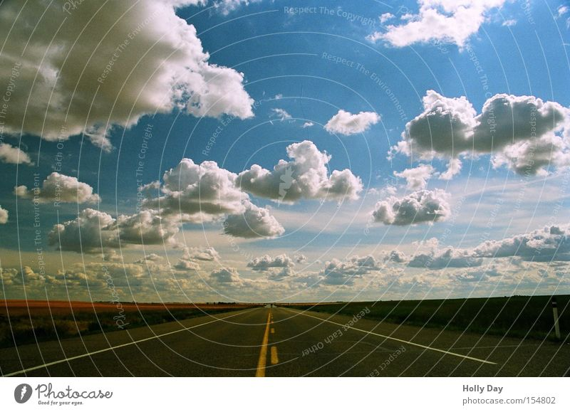 celestial road Summer Far-off places Sky Right ahead Horizon Canada Infinity Perspective Alberta Transport Street Lanes & trails Highway Free Clouds