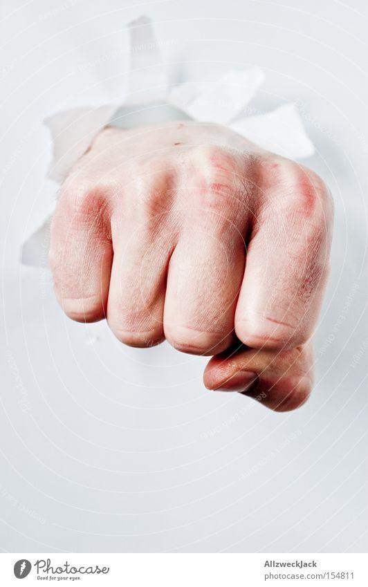Man Hand Fear Fingers Fight Panic Fist Beat Boxing Martial arts Breach Penetrating power Resounding