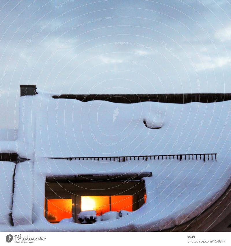 Sky Clouds House (Residential Structure) Winter Window Cold Environment Warmth Snow Contentment Air Living or residing Illuminate Climate Romance Elements