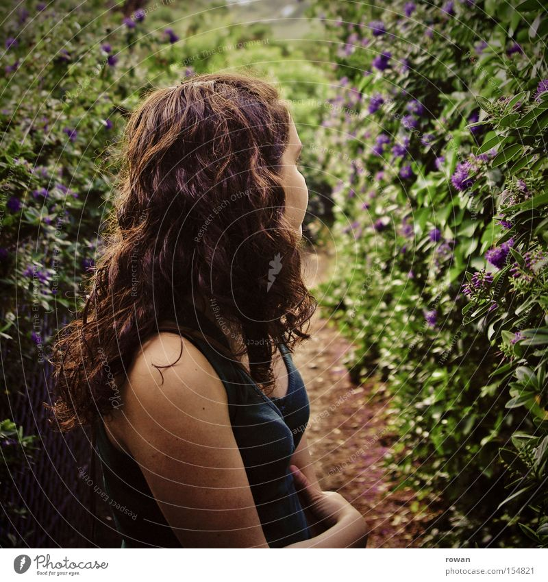 Woman Summer Leaf Lanes & trails Warmth Wait Closed Rotate Shoulder Canyon Hedge Overgrown