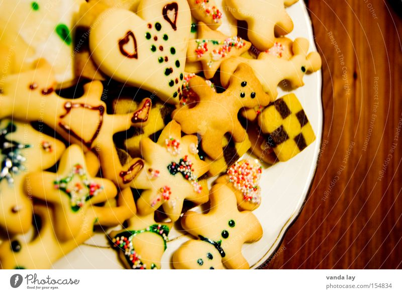 Christmas & Advent Heart Cooking & Baking Star (Symbol) Many Delicious Tradition Dessert Anticipation Baked goods Dough Alluring Cookie
