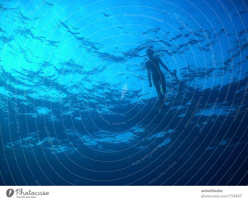 Woman Water Beautiful Ocean Summer Vacation & Travel Waves Dive Swimming & Bathing Deep Water wings Aquatics Diver Mediterranean sea Snorkeling