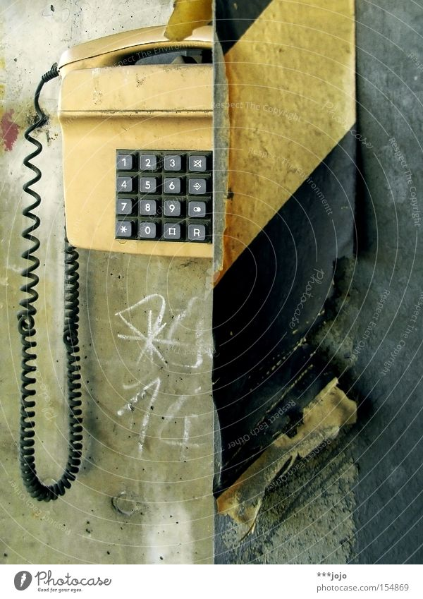Communicate Technology Telecommunications Telephone Retro Digits and numbers Derelict Connection Analog Select The eighties Electrical equipment