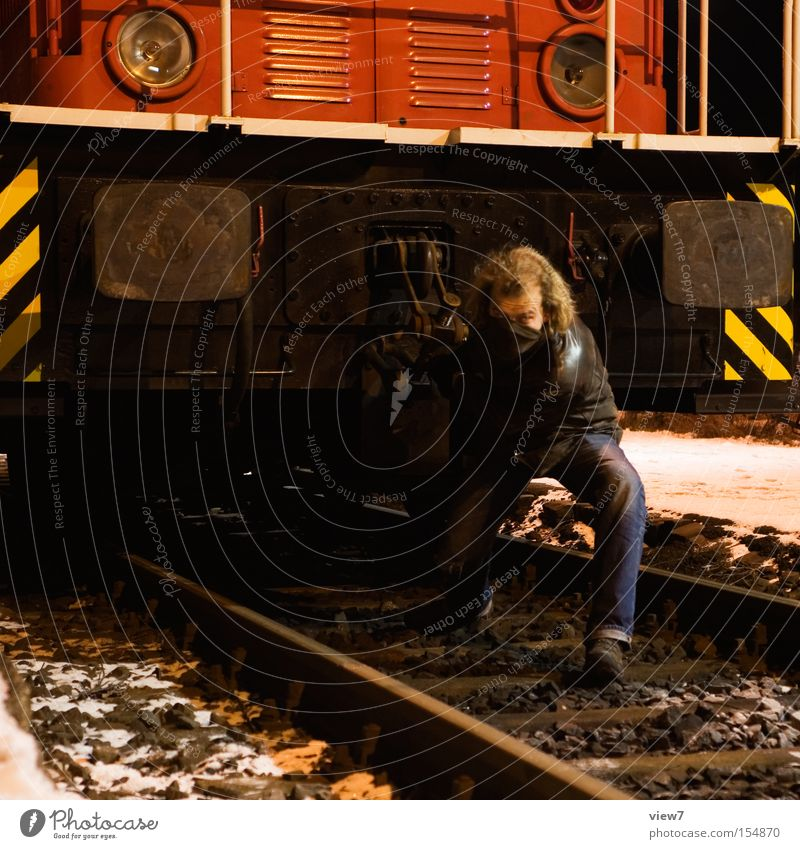 Man Work and employment Transport Railroad Industry Industrial Photography Railroad tracks Train station Machinery Hero Effort Pull Equipment Engines Actor Rank