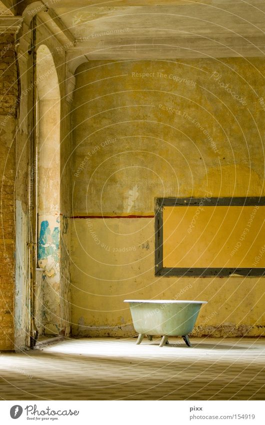 Beautiful Relaxation Wall (building) Room Wellness Bathroom Leisure and hobbies Derelict Warehouse Bathtub Sunday Old building Private Spa