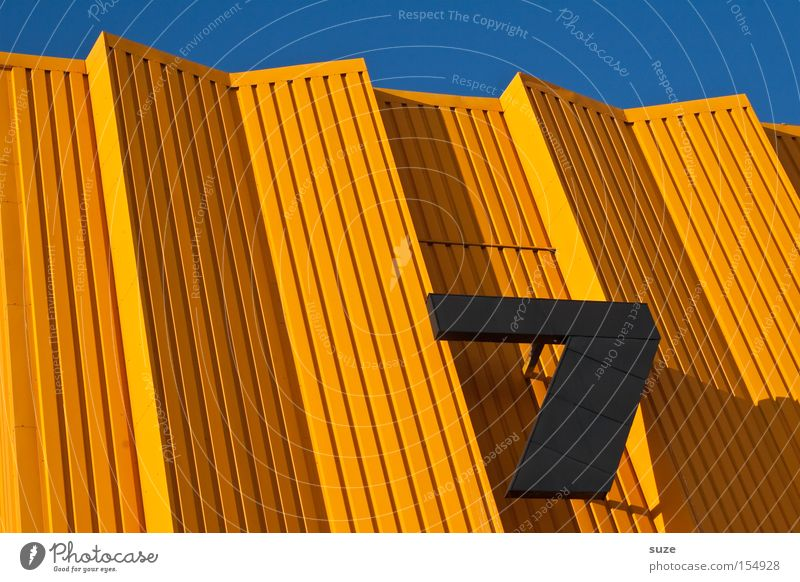 Sevenlixed Lifestyle Style Design Happy Architecture Metal Digits and numbers Line Stripe Sharp-edged Simple Beautiful Uniqueness Crazy Blue Orange Black