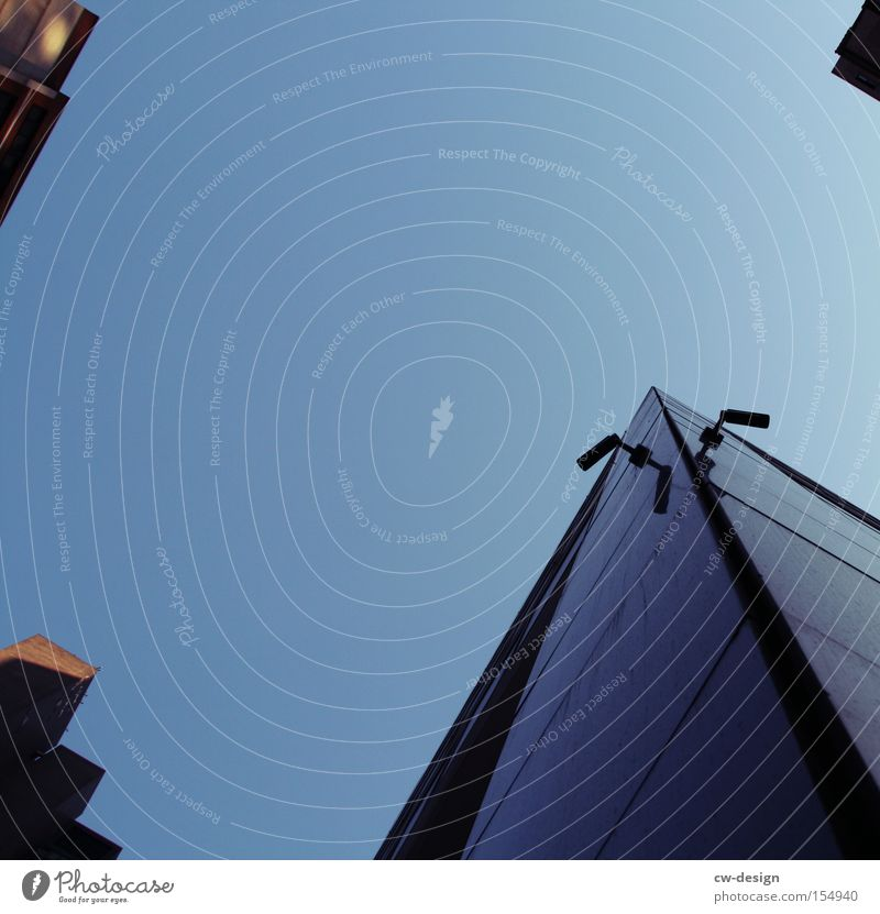 Sky High-rise Telecommunications Camera Video camera Respect Caution New York City Surveillance Police state Monitoring Webcam Ministry for Internal Security