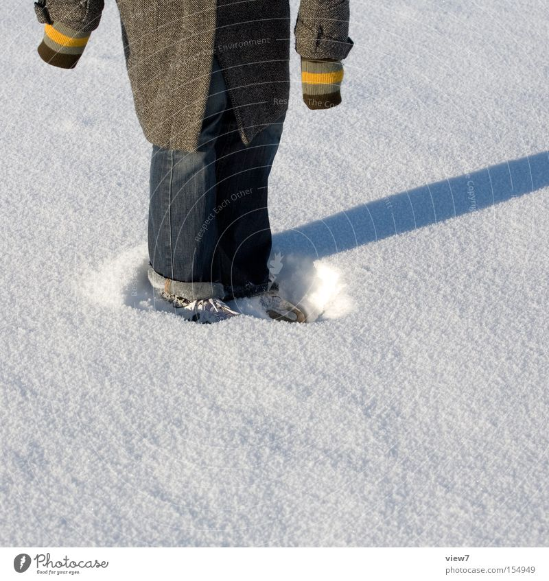 Standing in the snow Snow Winter Surface Shadow Circle Ring Cloth Snowflake Footwear Round Joy