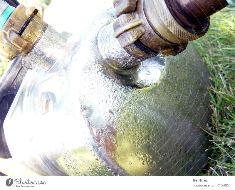 Water Grass Garden Drops of water Things Hose Pump