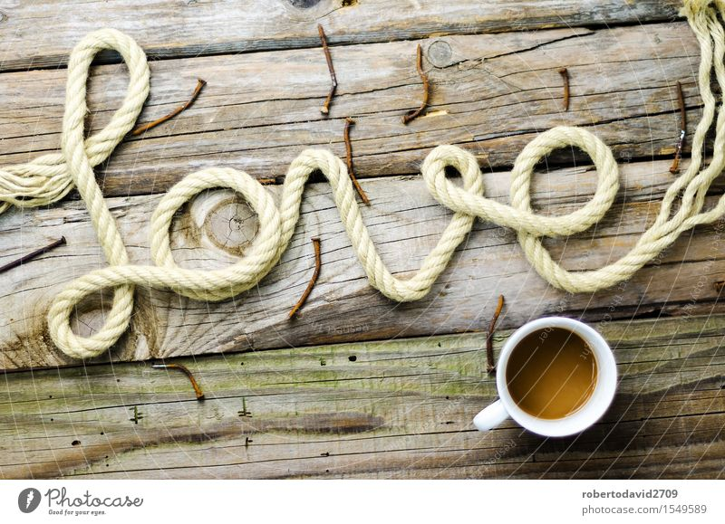 Written text date with rope on old wood Old Beautiful White Love Emotions Natural Happy Feasts & Celebrations Couple Line Creativity Heart Retro Romance Rope