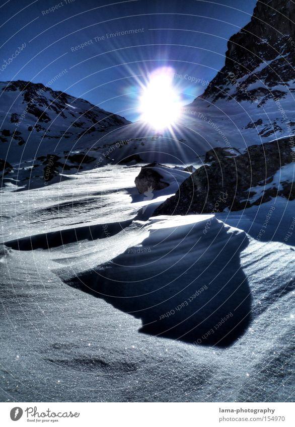 Sun Winter Snow Mountain Peak Winter vacation Deep snow