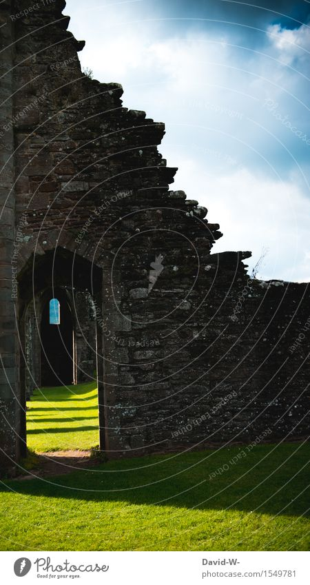 Old Stories Stage play Culture Environment Nature Landscape Clouds Beautiful weather Castle Ruin Gate Manmade structures Architecture Wall (barrier)