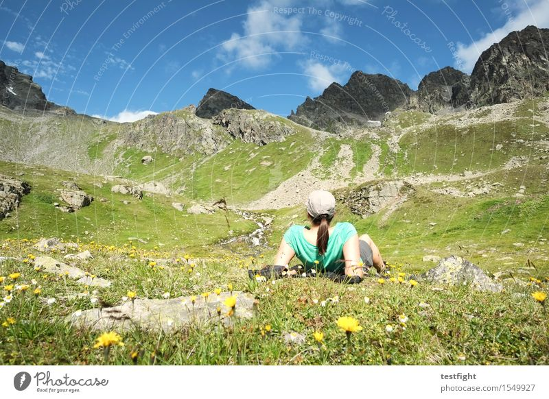 bersch Vacation & Travel Trip Freedom Summer Mountain Hiking Sports Feminine Woman Adults 1 Human being Environment Nature Landscape Plant Animal Sky Clouds
