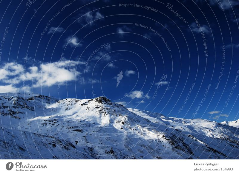 Sky Vacation & Travel Blue White Clouds Winter Cold Mountain Snow Ice Peak Alps France