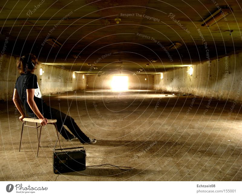 After the storm. Self portrait Calm Empty Silo Gale Wait Retro Headphones Nature Barn fowl Derelict Youth (Young adults) real time ez08 linne