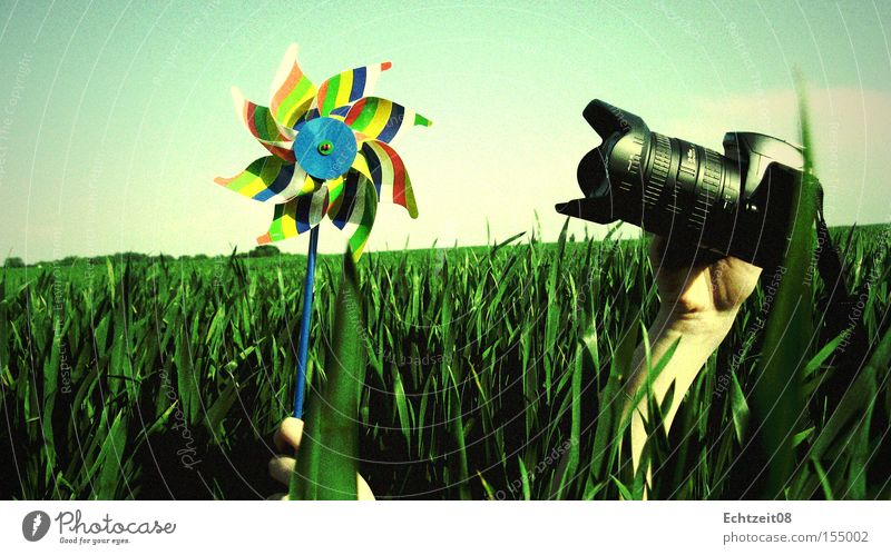 Nature Sky Green Blue Colour Grass Camera Analog Pinwheel Focal point Vignetting Photographic technology