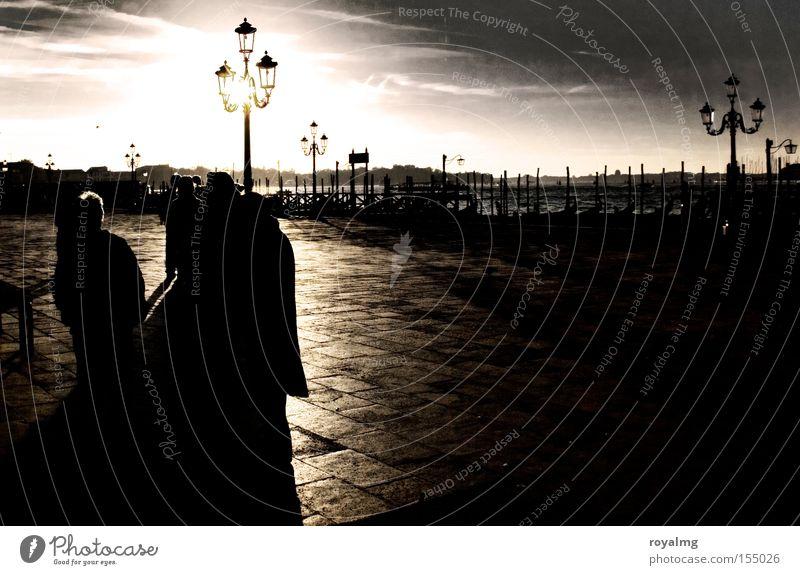 Sun Lamp Coast Italy Lantern Historic Traffic infrastructure River bank Venice