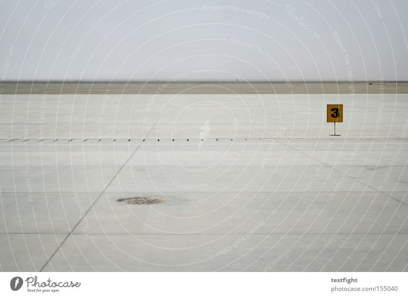 runway west Airplane 3 Concrete Line Horizon Places Structures and shapes Large Airport Runway Minimalistic
