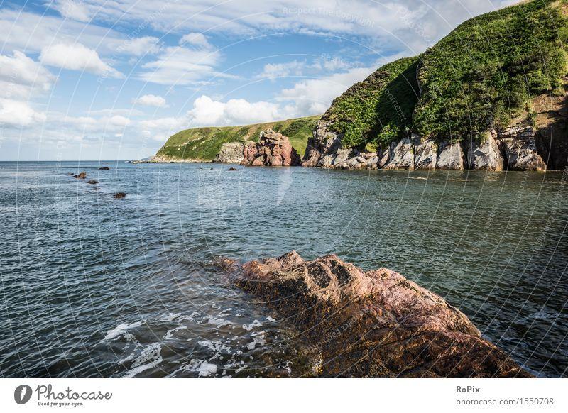 Scottish North Sea Coast Vacation & Travel Tourism Freedom Summer Ocean Environment Nature Landscape Water Sky Horizon Beautiful weather Bay Fjord rocky coast