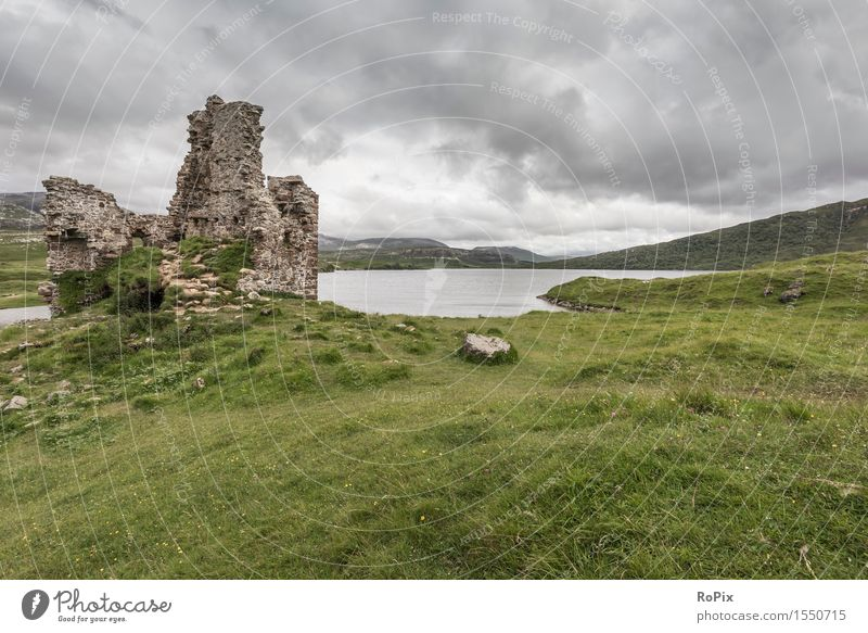 Ardvreck Castle Relaxation Calm Vacation & Travel Tourism Sightseeing Summer Hiking Landscape Elements Water Sky Clouds Storm clouds Bad weather Gale Hill