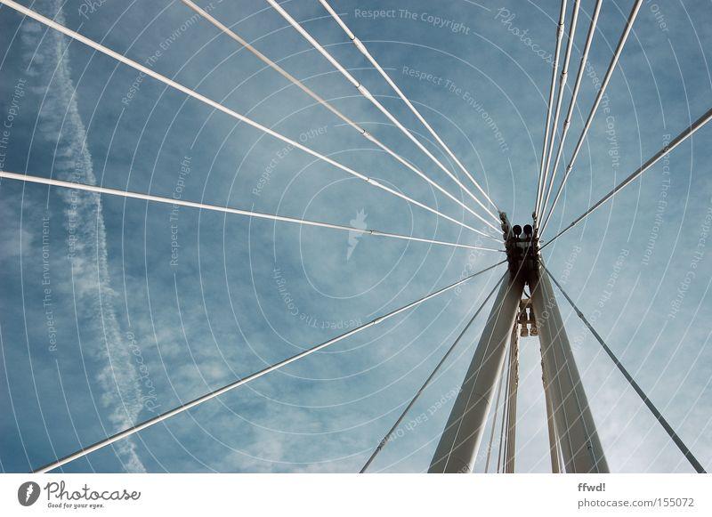 Architecture Contentment Arrangement Rope Bridge Safety Network Construction site Communicate Logistics Concentrate Contact Connection Relationship Wire