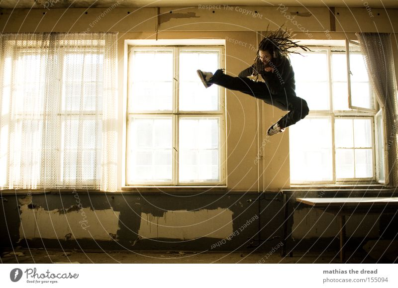 Window Jump Room Flying Tall Dangerous Aviation Action Threat Derelict Tension Fight Combat sports Martial arts Tread Attack