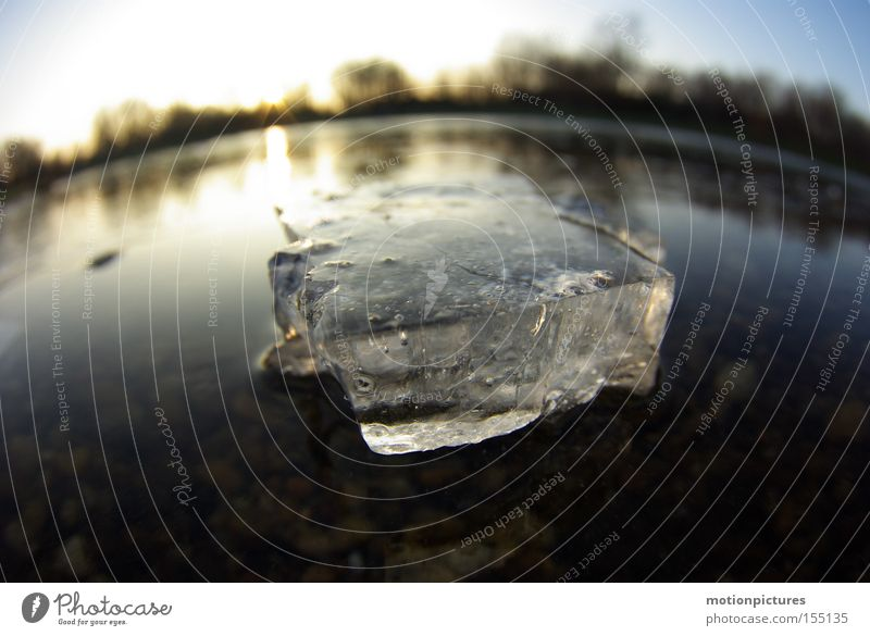 Water Winter Ice Macro (Extreme close-up) Frozen Freeze Fisheye Ice floe Frozen surface Aggregate state