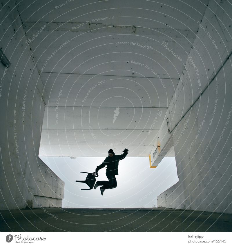 Human being Man Architecture Flying Jump Aviation Concrete Chair Hop Parking garage Freestyle Highway ramp (exit) Highway ramp (entrance) Expressway exit