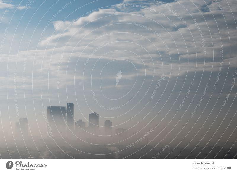 Sky Clouds Fog High-rise Vienna November Smog