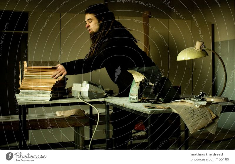 Dark Window Office Business Room Politics and state Derelict Desk Fatigue Stress Shabby Cupboard Clerk Typewriter Telecommunications Call center